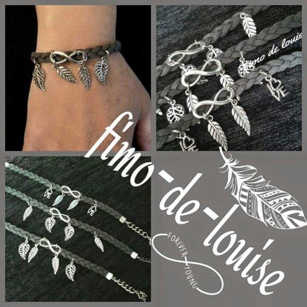 Bracelets tressé cuire