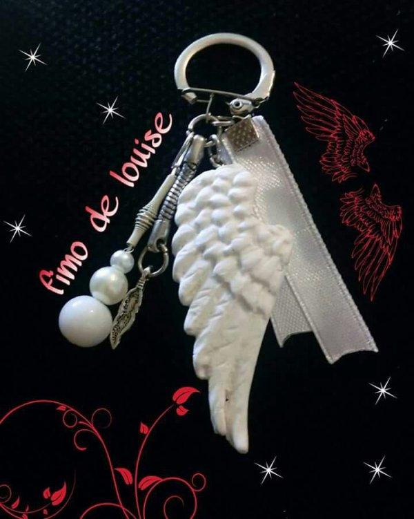 Porte clé aile d'ange