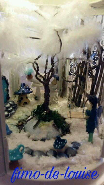 Grande lanterne reine des neiges
