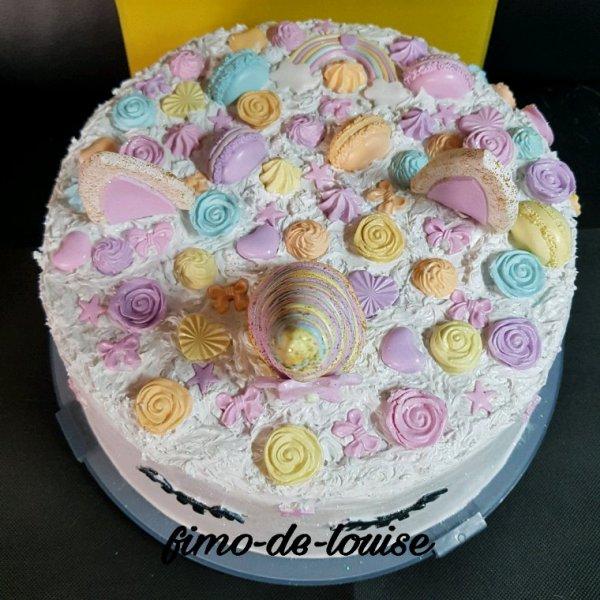 Taille réelle cloche a gâteau Fimo