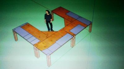 Projet fait sur sketchup avec les vraies grandeur pour voir combien de planches acheter ect