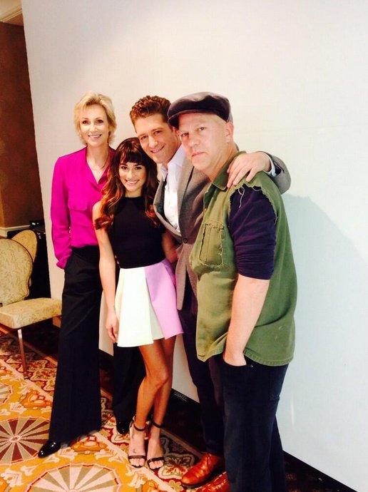 Jane, Matthew, Lea et Ryan hier au Glee Panel