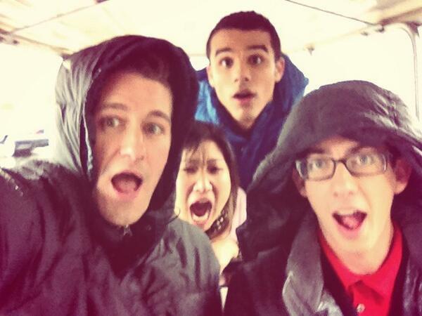 Il pleut sur le tournage de Glee aujourd'hui !