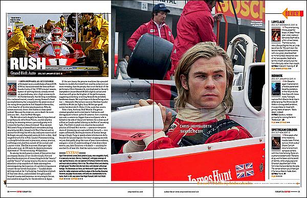 """→ Découvre des scans de Chris dans  """"Rush""""  pour le magazine « Empire » qui sortira en Février 2014"""