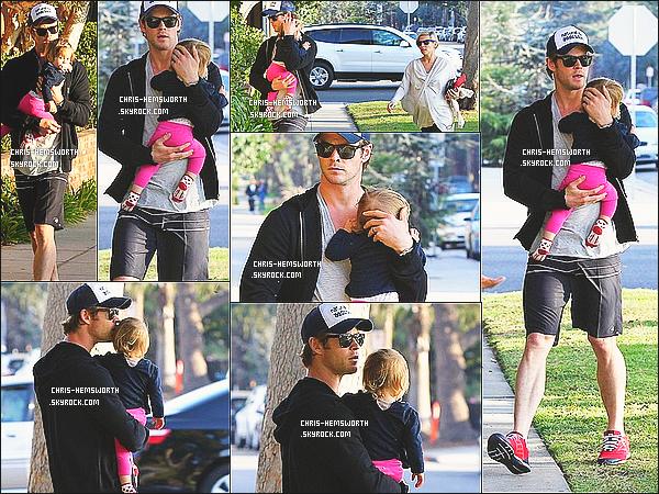 9/01/2014 : Dans la même journée Chris  et sa femme Elsa ont emmenés leur fille India Rose chez le docteur