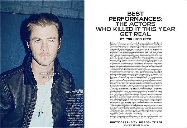 ● Découvre des scans de Chris pour  « W Magazine »  édition de Février 2014 il est magnifique  !