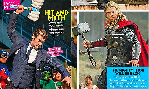 ● Découvre des scans de Chris pour  « OK Magazine »  édition de Février 2014 il est magnifique  !