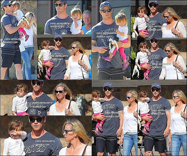 15/03/2014 : Chris Hemsworth  à été vu  avec sa fille India Rose et famille faisant du shopping à Malibu