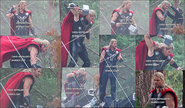 Tournage Avengers 2 :  The Age of Ultron   : Chris  était sur le tournage à Guildford, (Angleterre) ! Le 27 Juin 2014