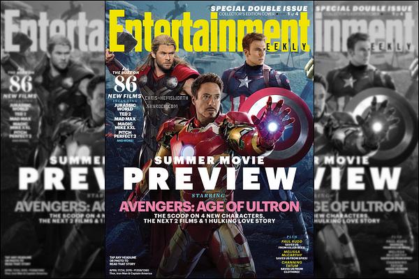 → Chris et ses co-stars font la couverture du magazine « Entertainment Weekly»