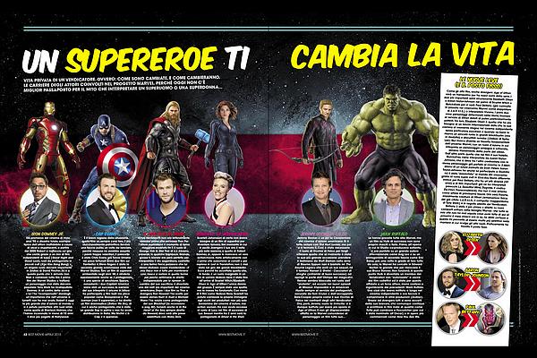 → Chris Hemsworth et ses co-stars font la couverture du magazine « Best Movie» d'Avril 2015