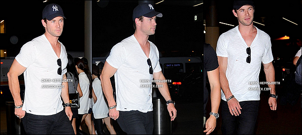 24/09/2015 : Chris était à l'aéroport de LAX à Los Angeles