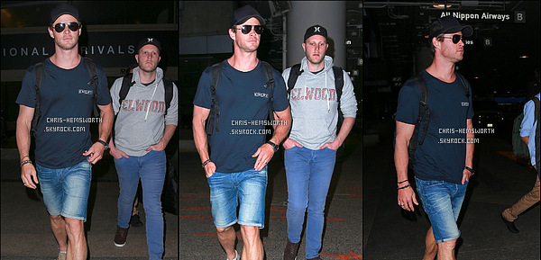 20/10/2015 - Chris a été vu à l'aéroport de LAX à Los Angeles