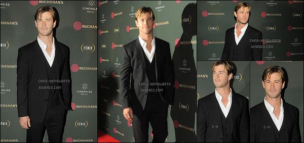 """21/10/2015 : Chris était sur le tapis rouge des """"Premio Buchanana's A La Grandeza del Cine Mexicano"""" à Mexico"""