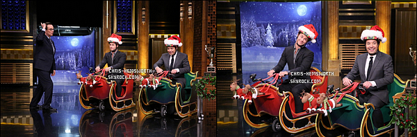 10/12/2015 - Chris était au Tonight Show de Jimmy Fallon