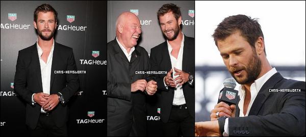 04.02.2016 : Chris Hemsworth  très souriant était à un dîner australien à Sydney (il y'a très peu de photos)