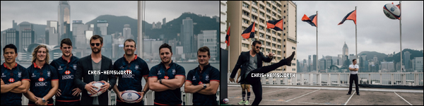 07.04.2016 : Chris Hemsworth  a été pris en photo avec des rugbymans à Hong Kong en Chine (peu de photos)