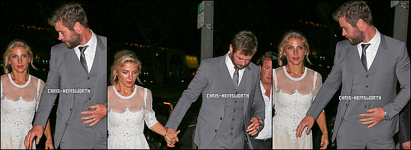 "12.04.2016 : Chris Hemsworth  et sa femme étaient à "" l'Angeleno Issue Release Party"" à West Hollywood"