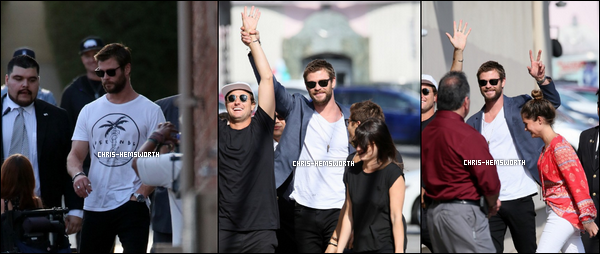 14/04/2016 - Chris Hemsworth a fait une apparition au Jimmy Kimmel Live à Los Angeles