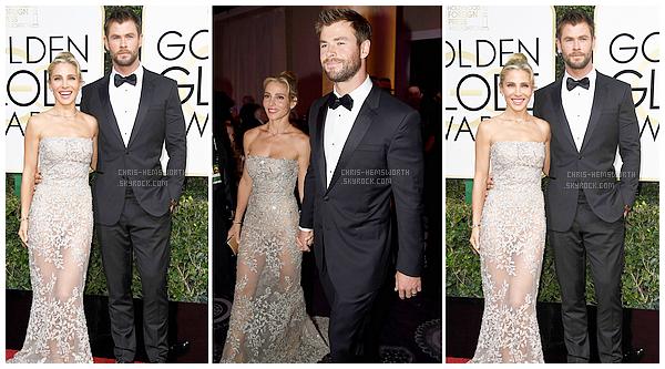 Chris Hemsworth et sa femme Elsa Pataky étaient présents à la cérémonie des Golden Globes 2017