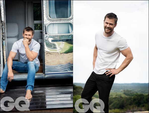 """• •Chris Hemsworth fait la couverture du magazine """"GQ Australia"""" , magnifique !"""