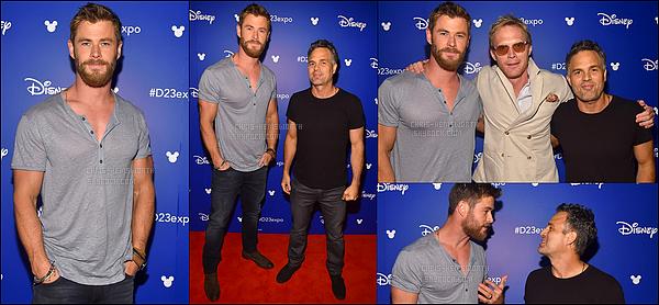 15.07.2017 : Chris et des acteurs du casting de Avengers infinity War était à l'exposition Disney enCalifornie