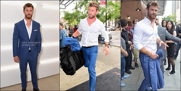 11.07.2017 : Chris Hemsworth, toujours aussi élégant était à la Boss Fashion week qui s'est déroulé à New York