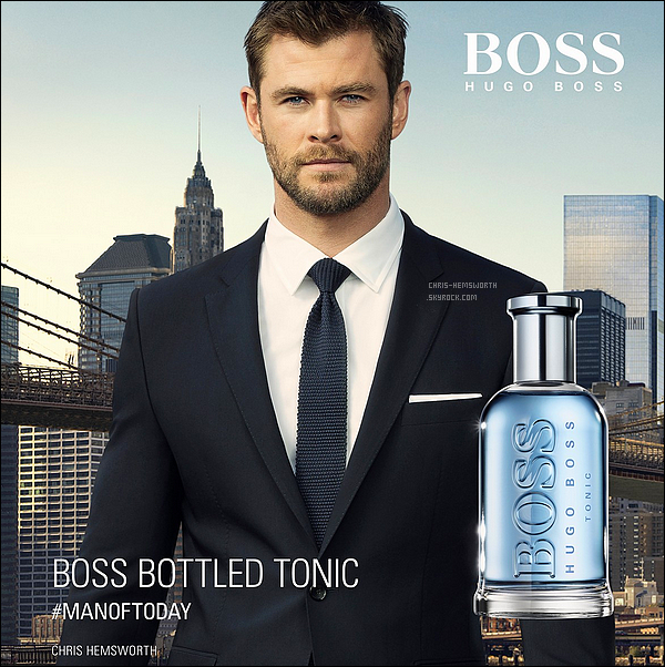 "Chris Hemsworth devient l'égérie du parfum ""Boss Bottle de Hugo Boss!"
