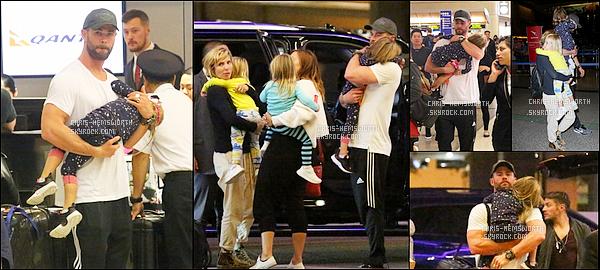 11/06/2017 : Chris Hemsworth était avec sa femme et ses 3 enfants à l'aéroport de Los Angeles
