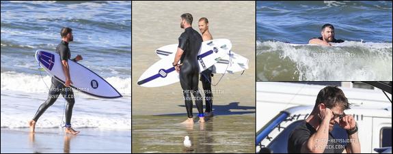 25/06/2017 : Chris Hemsworth était en pleine séance de surf à Byron Bay - cela se voit que Chris est passionné de surf
