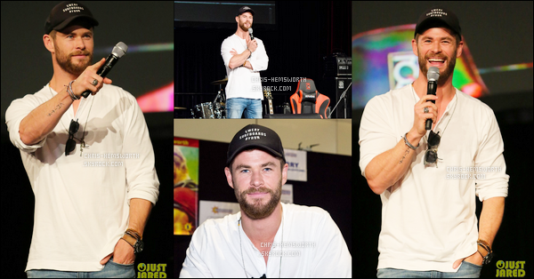 18/06/2017 : Chris Hemsworth était au Supranova Comic Con à Sydney en Australie, Chris est très souriant