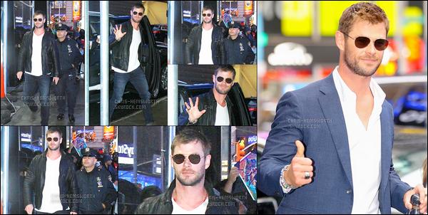 30.10.2017 : Chris Hemsworth (enfin de sortie) a fait une apparition aux Good Morning America à New York