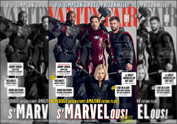 Chris et ses co-stars de Avengers font la couverture du magazine « Vanity Fair »