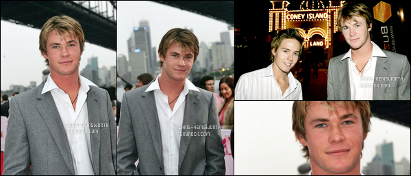 03.03.2005 : Chris Hemsworth âgé de 22 ans seulement était aux « MTV Australia Video Music Awards »
