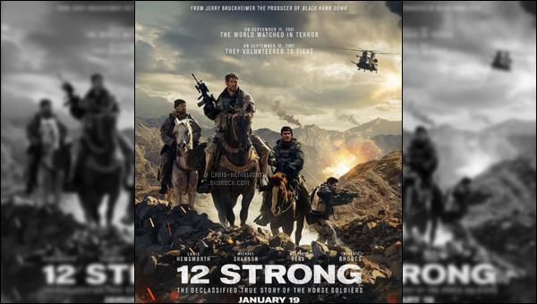 Découvre une nouvelle affiche du film  « 12 Strong » dans lequel Chris jouera