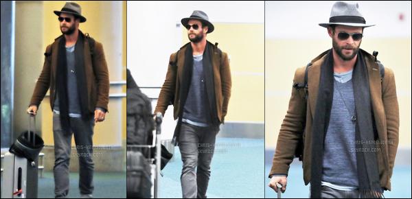 07.03.2018 : Chris Hemsworth à été aperçu à l'aéroport de Vancouver au Canada pour tourner son prochain film