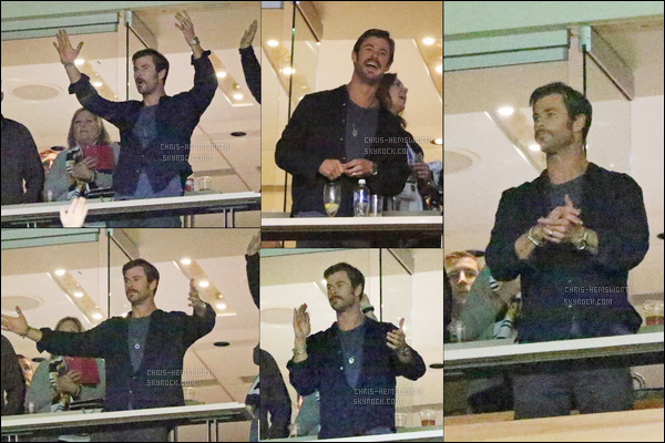24.03.2018 : Chris Hemsworth assistait aux «Whitecaps Game» qui se sont déroulés à Vancouver au Canada