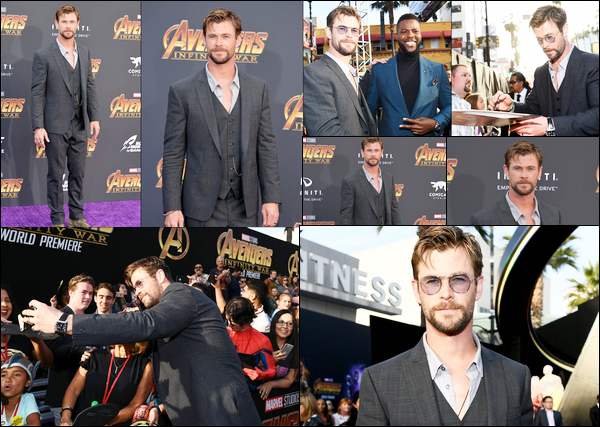 23 Avril 2018 : Chris Hemsworth continue la promotion de Avengers Infinity War toujours à Los Angeles