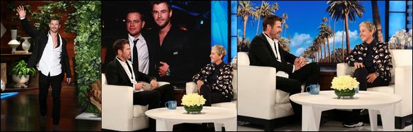 26 Avril 2018 : Chris Hemsworth a fait une apparition sur le plateau de Ellen Degeneres