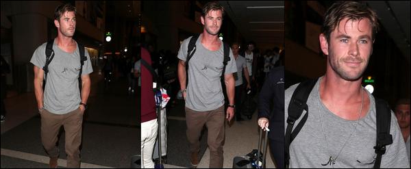 27 Avril 2018 : Chris Hemsworth s'est rendu a l'aéroport de LAX à Los Angeles pour peut être rentrer chez lui
