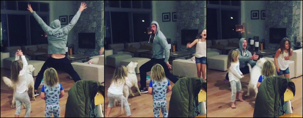 Mai 2018 : Chris  a partagé une vidéo dansant avec ses enfants sur la chanson Wrecking Ball de Miley Cyrus