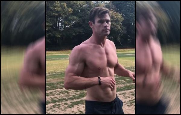 Chris a posté une vidéo sur son instagram montrant son entraînement pour Men in Black à Londres