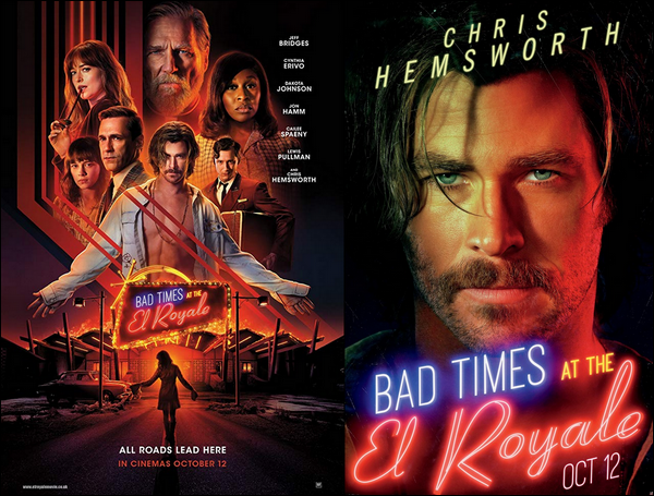 Découvre le portrait de Chris pour « Bad times at the El Royale » sortie prévue en Octobre !