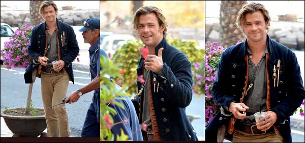 28.11.2013 : Chris était sur le tournage de son nouveau film « In the heart of the sea » à La Gomera en Espagne