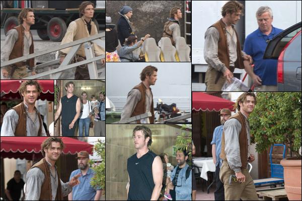 16.11.2013 : Chris était sur le tournage du film « In the heart of the sea » dans les îles Canaries en Espagne