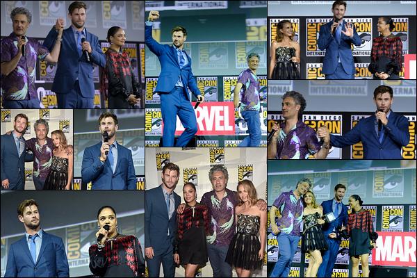 20.07.2019   ▬ Chris Hemsworth était présent au « Comic Con » qui s'est déroulé à San Diego (Californie)  Bonne nouvelle Thor 4 est en préparation et sera intitulé « Love and Thunder », la sortie est prévue le 5 Novembre 2021