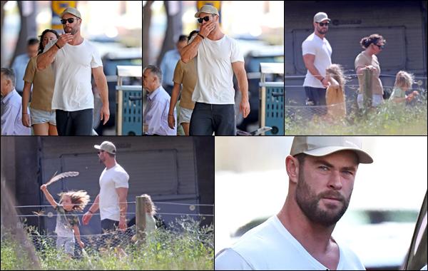 ● 16/04/2021  : Chris Hemsworth se promenait avec ses enfants dans la ville de Sydney située en Australie  Chris a profité de cette journée pour emmener sa petite famille au Zambi Wildlife Park ! C'est un vrai top pour ma part