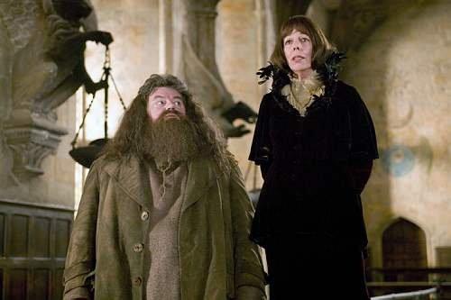 Madame Maxime et Hagrid