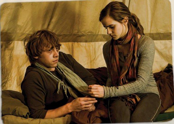 Hermione qui s'occupe de Ron