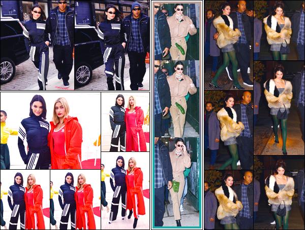 - '-08/02/18-' ◘Kendall a été vue quittant le Mercer Hotel pour se rendre à la présentation d'Adidas Originals . Plus tard la belle a été aperçue dansNew York City. Pour terminée Kendall était de sortie avec ses amies durant la Fashion Week, NYC ! -
